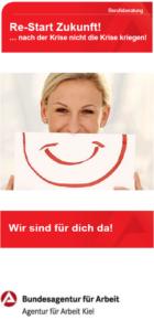 Deckblatt Flyer Berufsberatung Re-Start