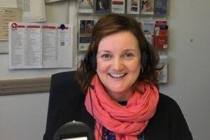 Berufsberaterin Catharina Brandes an ihrem Arbeitsplatz